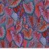 PWPJ108.RED metráž vzor listů tropická rostlina sloní uši Philip Jacobs pro Kaffe Fassett Collective americká designová látka