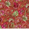PWPJ109.RED metráž vlčí máky americká designová látka květinový vzor Philip Jacobs pro Kaffe Fassett Collective