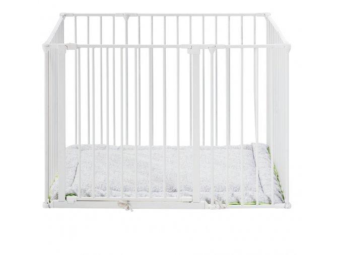 BabyDan Square playpen fehér járóka + matrac