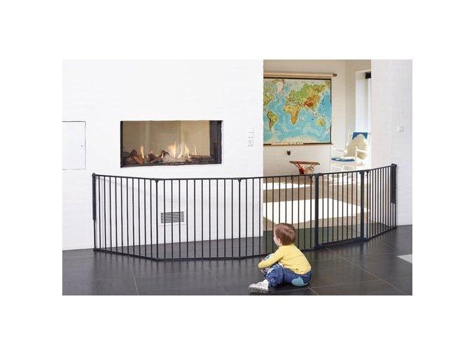 Babydan Flex XXL térkorlát 90-350 cm fekete
