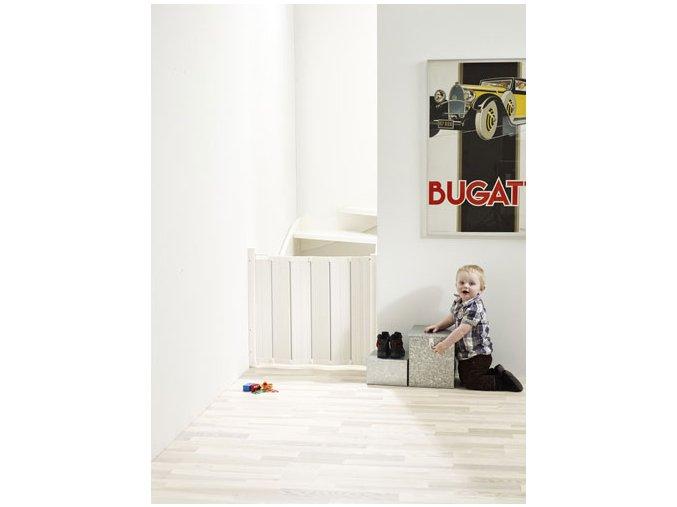 Babydan Guard Me összecsukható ajtórács 55-89 cm, fehér