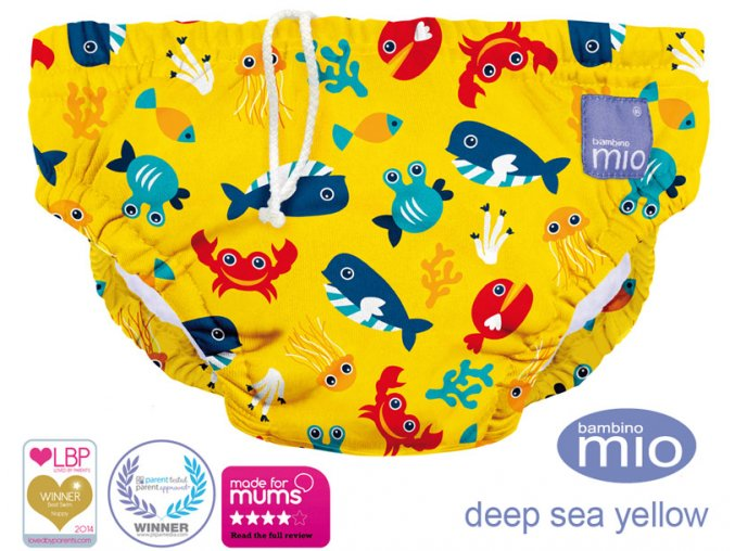 Úszópelenka Bambino Mio Deep Sea Yellow méret XL
