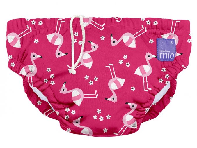 Úszópelenka Bambino Mio Pink Flamingo méret S