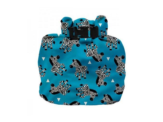 Vízhatlan pelenkatároló táska Zebra Crossing