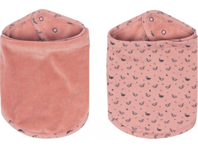 rózsaszín Bandana nyálkendő 2 db Bébé-jou Fabulous Swan