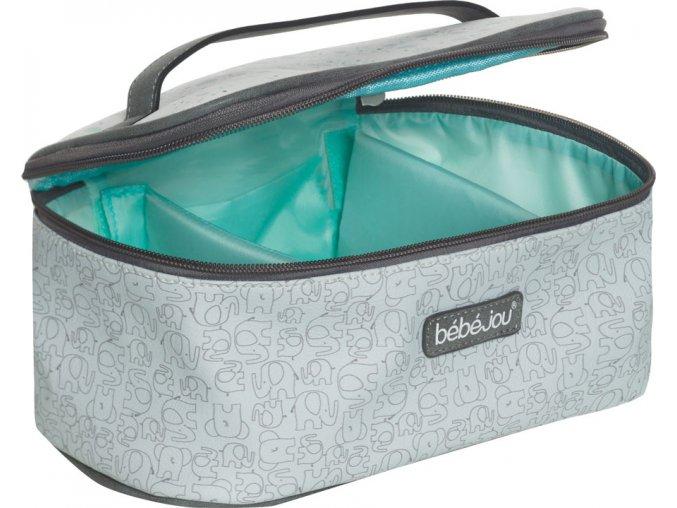 szürke Beautycase kozmetikai táska zárható fedéllel Bébé-Jou Ollie