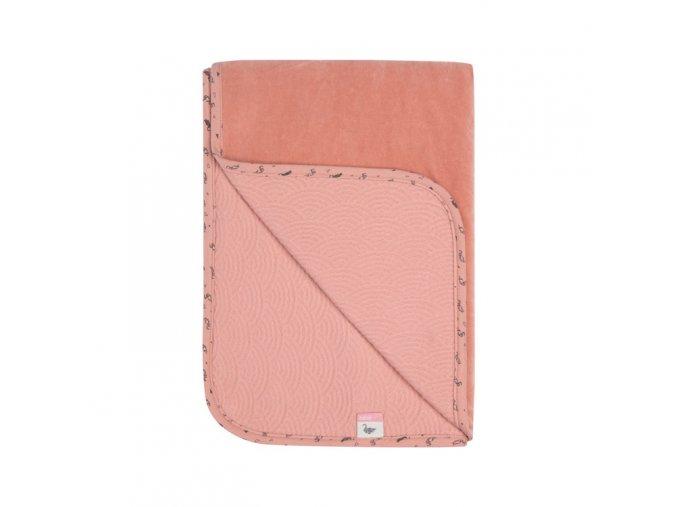 rózsaszín babatakaró 100 x 150 simply fabulous