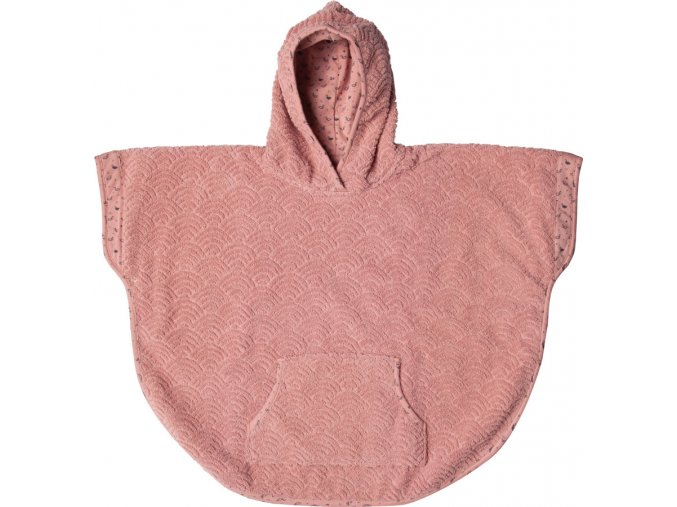 Frottír poncsó Bébé-Jou Fabulous Dots rózsaszín