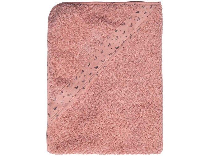 rózsaszín 85 x 75 Frottír törülköző kapucnival Bébé-Jou Fabulous Swan