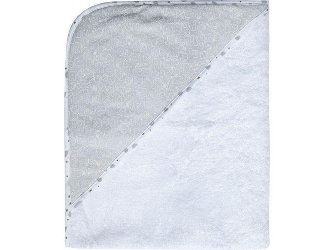Fehér Frottír törülköző kapucnival 100% pamutból Bébé-Jou Ollie