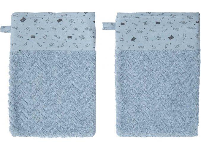Kék Froté fürdő törlőkendő szett Bébé-Jou Fabulous Hero 2 db