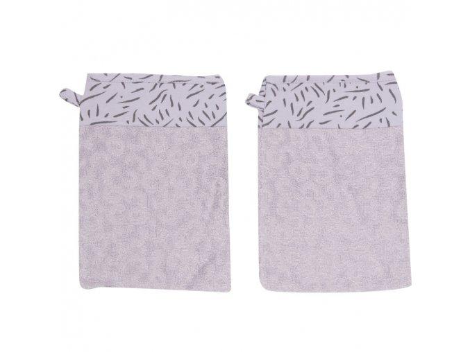 Lila Froté fürdő törlőkendő szett Bébé-Jou Fabulous Zebra 2db