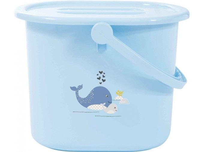 Kék Pelenkatartó vödör fedéllel Bébé-Jou Wally Whale dream blue