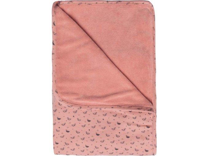 rózsaszín Multifunkcionális pléd Bébé-Jou Fabulous Swan