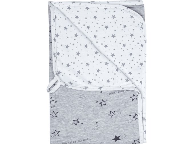 Multifunkcionális jersey pléd 100 × 75 × 0,5cm szürke