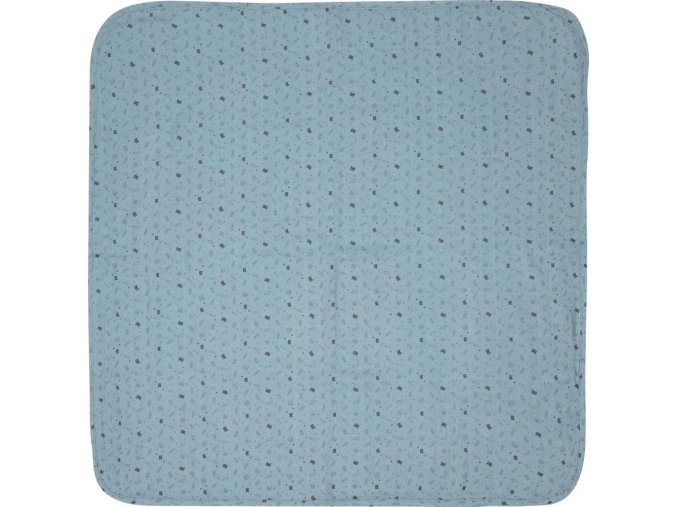 Nagy kék Muszlin pelenka 110 x 110 cm Fabulous Hero