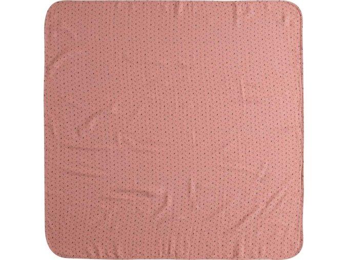 Nagy rózsaszín Muszlin pelenka 110 x 110 cm Fabulous Swan
