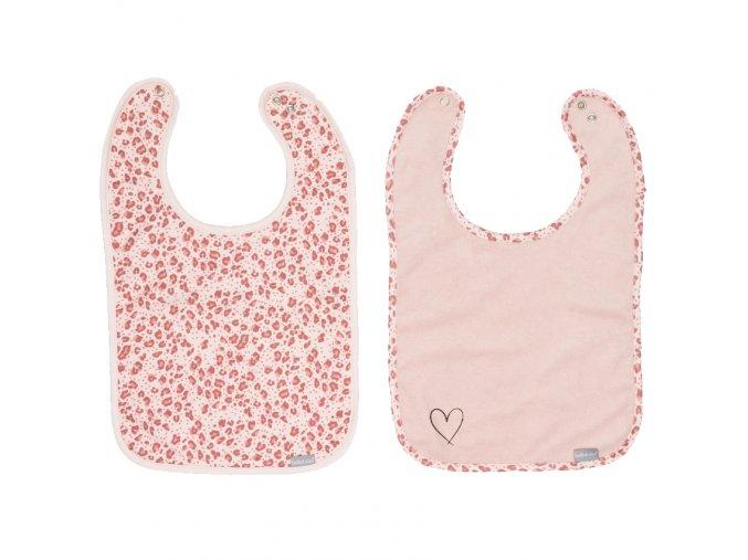 Rózsaszín Előke 2 db Bébé-Jou Leopard Pink