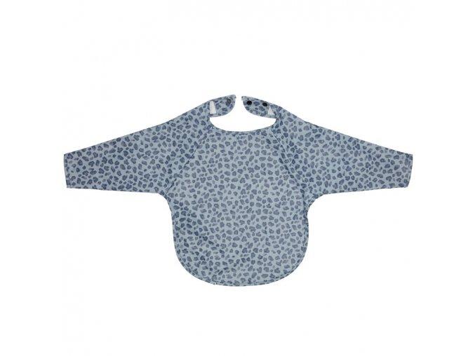 Kék Hosszú ujjú előke Bébé-Jou Leopard Blue
