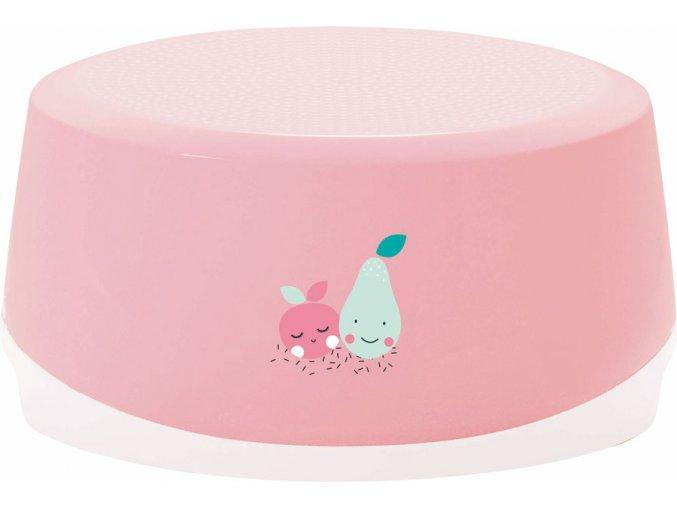 Rózsaszín Ovális fürdőszobai fellépő Bébé-Jou Blush Baby