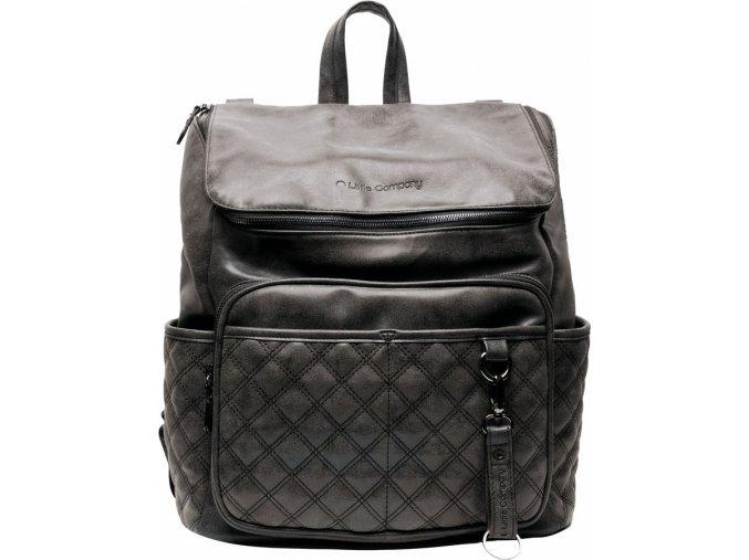 Fekete Pelenkázó hátizsák Lisbon Quilted Black