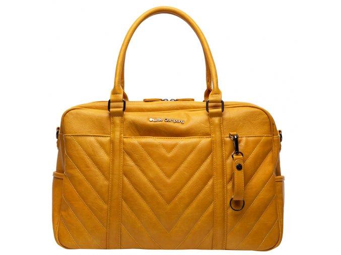 Sárga Pelenkázó táska Amsterdam Quilted yellow tűzdelt