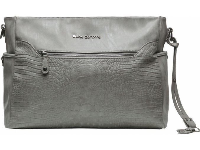 Szürke Pelenkázó táska Copenhagen Croco Grey krokodíl minta
