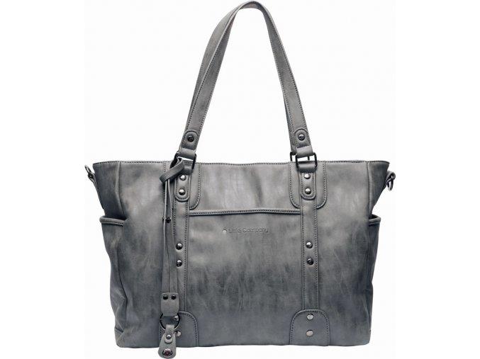 Szürke Pelenkázó táska Paris Studs antracite szegecsekkel