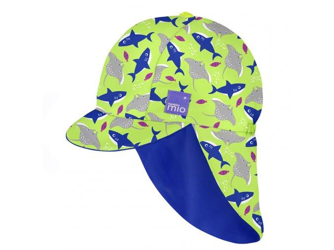 Gyermek UV szűrős fürdő sapka, UV 50+, méret L/XL, Neon
