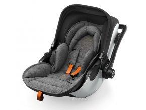 KIDDY Evoluna i-Size 2 Grey Melange 2021 safe orange autósülés
