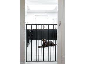 Pet Gate Streamline védőrács, fekete fém 63,5-107 cm