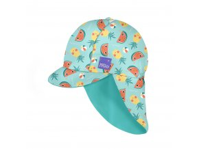 Gyermek UV szűrős fürdő sapka, UV 50+, méret L/XL, Tropical