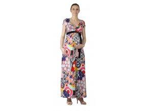 Lonchette mintás kismama és szoptatós ruha, 0630