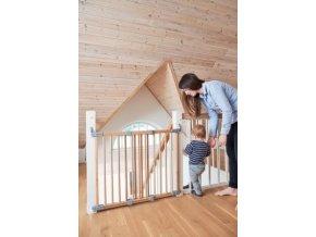 BabyDan ELIN Wood ajtórács 69-106,5 cm, FSC 100%