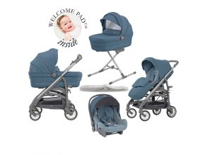 Inglesina Trilogy Quatro Artic Blue szett Trilogy City vázzal