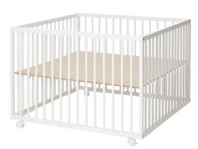 Baby Dan Comfort Large fa járóka White 99x99x73 cm