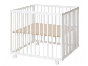 Baby Dan Comfort Medium fa járóka White 79x79x73 cm