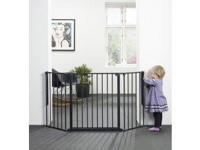 Babydan Flex M térkorlát 90-140 cm fekete