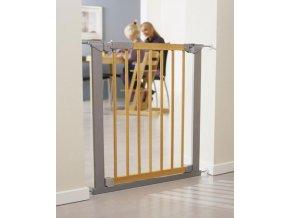 BabyDan Avantgarde biztonsági ajtórács 71-78 cm, ezüst/fa