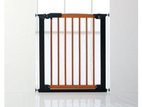 BabyDan Avantgarde biztonsági ajtórács 71-78 cm, Cherry/fekete