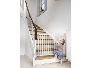 Babydan Flexi Fit fehér fém biztonsági ajtórács 67-105,5 cm, csavaros