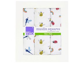 Bambino Mio Bambusz muszlin kendő 3db Bug's Life