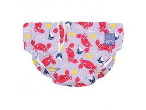 růžové kojenecké plavky velikost S 5-7kg swim nappy crab cove