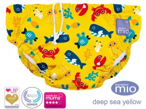 Úszópelenka Bambino Mio Deep Sea Yellow méret XL