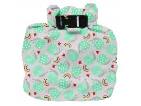 Vízhatlan pelenkatároló táska Snail Surprise