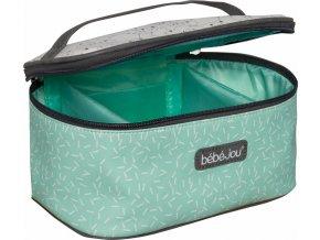 zöld Beautycase kozmetikai táska zárható fedéllel Bébé-Jou Bo és Bing