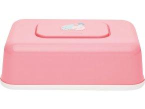 Rózsaszín Törlőkendő doboz Bébé-Jou Blush Baby