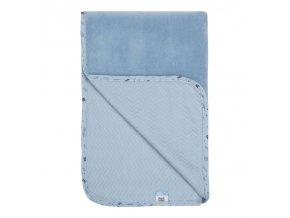 kék nyári baba pokróc 75 x 100 cm