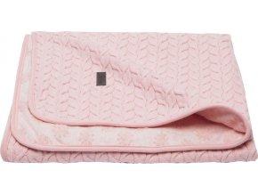Samo téli babatakaró frottír réteggel rózsaszín