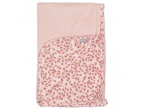 Multifunkcionális jersey pléd 100 × 75 × 0,5cm rózsaszín